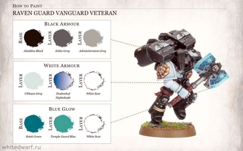 Покраска миниаютюры - Space marines - Raven guard (vanguard veteran)