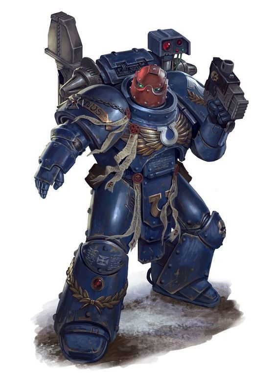 Арт - Space marines - Ultramarines (techmarine)