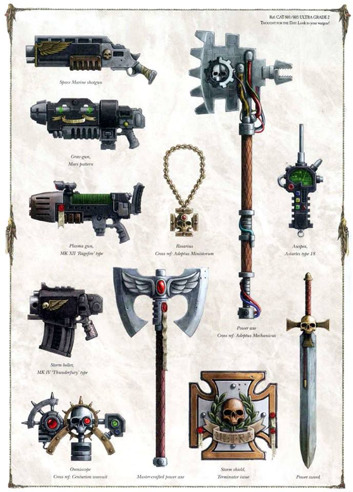 Арт - Weapons of the 41st millennium - Space marines