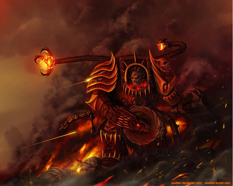 Арт - World Eaters - Techmarine
