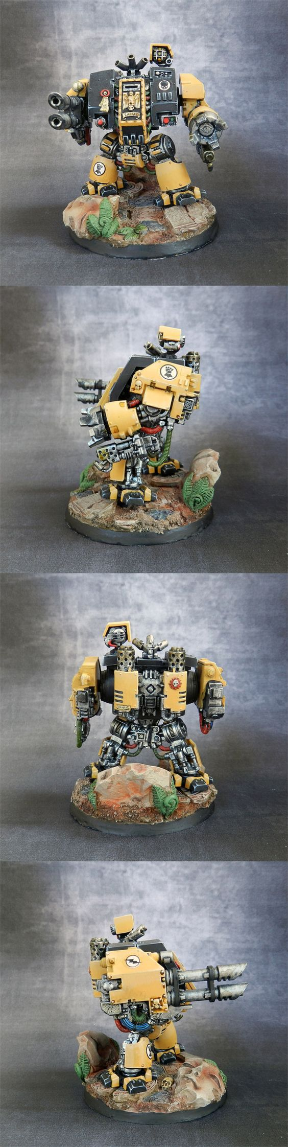 Миниатюры - Space marines - Imperial fists (dreadnought)