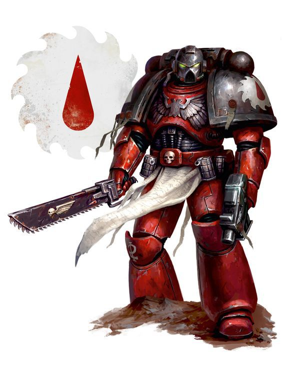Арт - Space marines - Blood angels